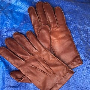 Mens Leather & Cashmere Gloves